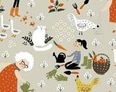 Scenic in Stone - Gardening - Dinara Mirtalipova - Windham Fabrics - 1 Yard