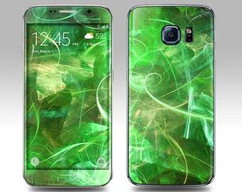 GREEN ABSTRACT Galaxy Decal Galaxy Skin Galaxy Cover Galaxy S6 Skin, Galaxy S6 Edge Decal Galaxy Note Skin Galaxy Note Decal Cover