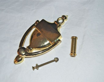 Peephole Classic Brass Door Knocker Quality Vintage for the Tasteful But Cautious Homeowner