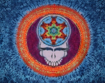 "Tie Dye Tapestry ~ Mandala Your Face Tapestry ~ 72"" X 90"""