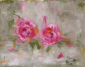 Wild Rose Original Painting by Kelly Berkey
