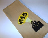 Batman Bring Beer-Kitchen Towel- kitchen towel-quirky towel- Subversive kitchen towel -funny kitchen towel Beer and Batman theme towel