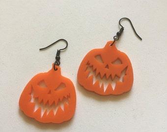 Evil jack o lantern earrings