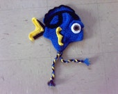 Crocheted ToddlerHat, Crocheted Baby Hat, Finding Dory