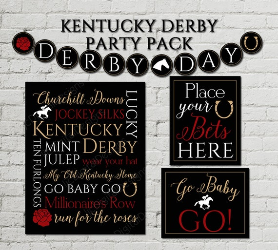 This is a photo of Unforgettable Kentucky Derby Printables