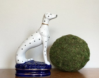 Vintage Porcelain Dalmatian Statue Dog Figurine Fitz and Floyd Japan Preppy Hamptons Decor