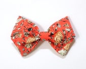 Little Lady Bow - Tiger Lily - Available on one size fits all nylon elastic or a clip