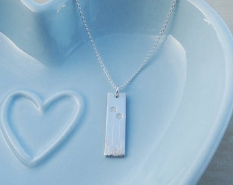 Silver Wildflowers Necklace - Sterling Silver