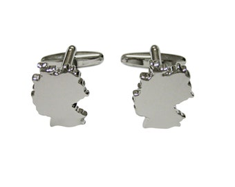 Germany Map Shape Cufflinks