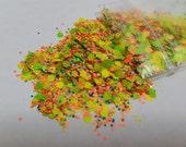 Solvent Resistant Glitter Mix - Super Nova - 5 Grams Raw Glitter Mix