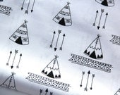Tepee Baby Blanket, Indian Aztec Baby Blanket, Arrow Baby Blanket, Black and White Blanket,Tent Blanket, Tepee Blanket, Minky Blanket