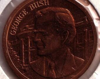 George HW Bush Copper Medal Inaugurated January 20 1989 35 mm