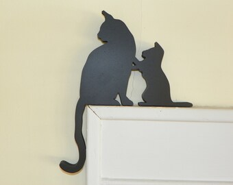 Mom and Kitty Door & Window Topper