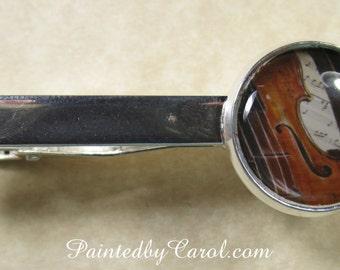 Violin Tie Bar, Violin Tie Tack, Violin Tie Clip, Violin Pin, Violin Mens Gifts, Music Tie Bar, Music Tie Tack, Music Tie Clip, Music Pin