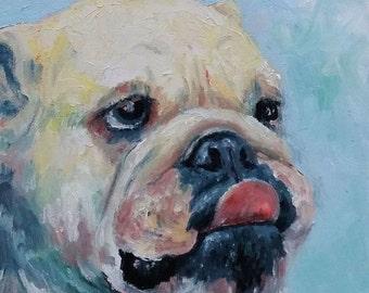Pork Chop - English Bulldog art print