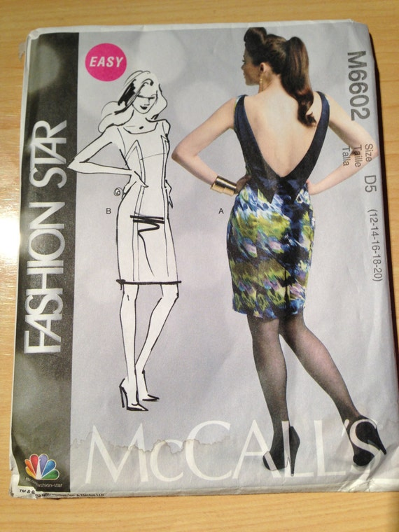 Misses Dresss McCalls Sewing Pattern 6602 Size 12-20