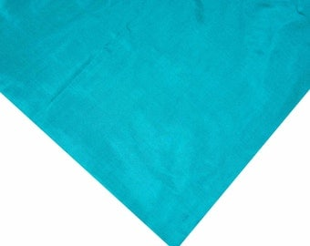 Cyan Pure Silk Soft Fabric - Soft Pure Silk - Plain Silk Fabric - Soft Silk Dress/Necktie/Curtain/Evening Gown Fabric