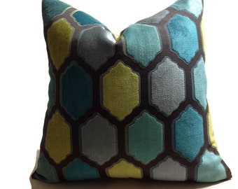 Velvet Pillow,Cut Velvet  Pillows, Designer Decorative Pillow, Throw Pillows, High End Pillow Covers, Lumbar Pillow