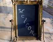 RESERVED FOR CHRISTIELINMD Vintage Art Deco Styled Tabletop Frame and Chalkboard