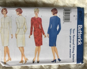 Butterick Misses Fitting Shell and Dress Fashion Sewing Pattern B5627 UC Uncut FF Size 16