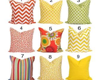 OUTDOOR PILLOWS, Outdoor Pillow Covers, Outdoor Throw Pillow Covers, Outdoor Pillows,Outdoor Cushion Covers, Outdoor Red, Outdoor Yellow