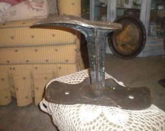 Antique Heavy Metal Shoe Makers Shoe Form, Primitive Decor, Country, Farmhouse