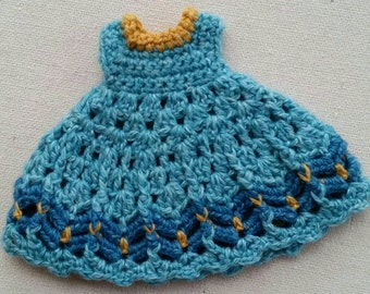 Middie Blythe Dress  Blue Crochet