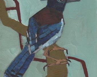 Stellers Jay Original Oil Painting