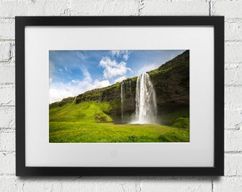 Print or Canvas Photograph of Seljalandsfoss Waterfall in Iceland Fine Art Nature Icelandic travel Waterfalls Landscape Photography Color
