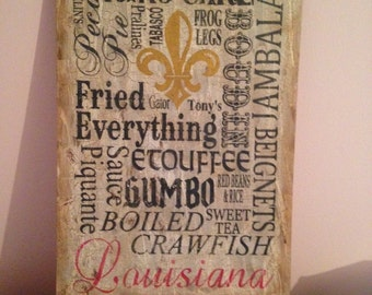 Louisiana Subway Food Art Sign - 14x22 -