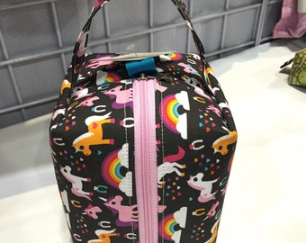 PRE-ORDER Unicorn Cube Boxy Bag. Stitches West Show Limited Edition