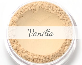 "Mineral Wonder Powder Foundation Sample - ""Vanilla"" - light shade with a neutral undertone - vegan makeup"