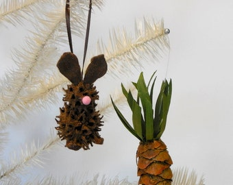 Easter Bunny and Carrot Ornament Set