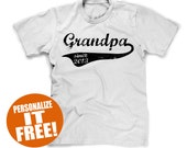grandpa gift gifts for grandad promotion personalized personalised t-shirt shirt tshirt fathers day dads promoted to large xl 2xl 3xl 4xl