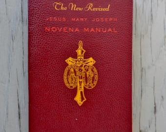 Vintage Prayer Book - Triple Novena Manual Of Jesus, Mary, and Joseph - 1943 - Antique Novena Manual