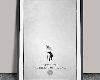 Captain America Poster.Superheroes Minimalist .Avanger.Black & White Minimalist ,Wall art, Artwork, DC comics poster, Gift,Gift for him