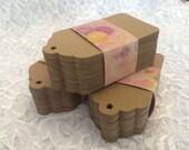 Kraft Paper Tags, Escort Tags, Wishing Tree Tags, Rustic Wedding Tags -  Set of 300