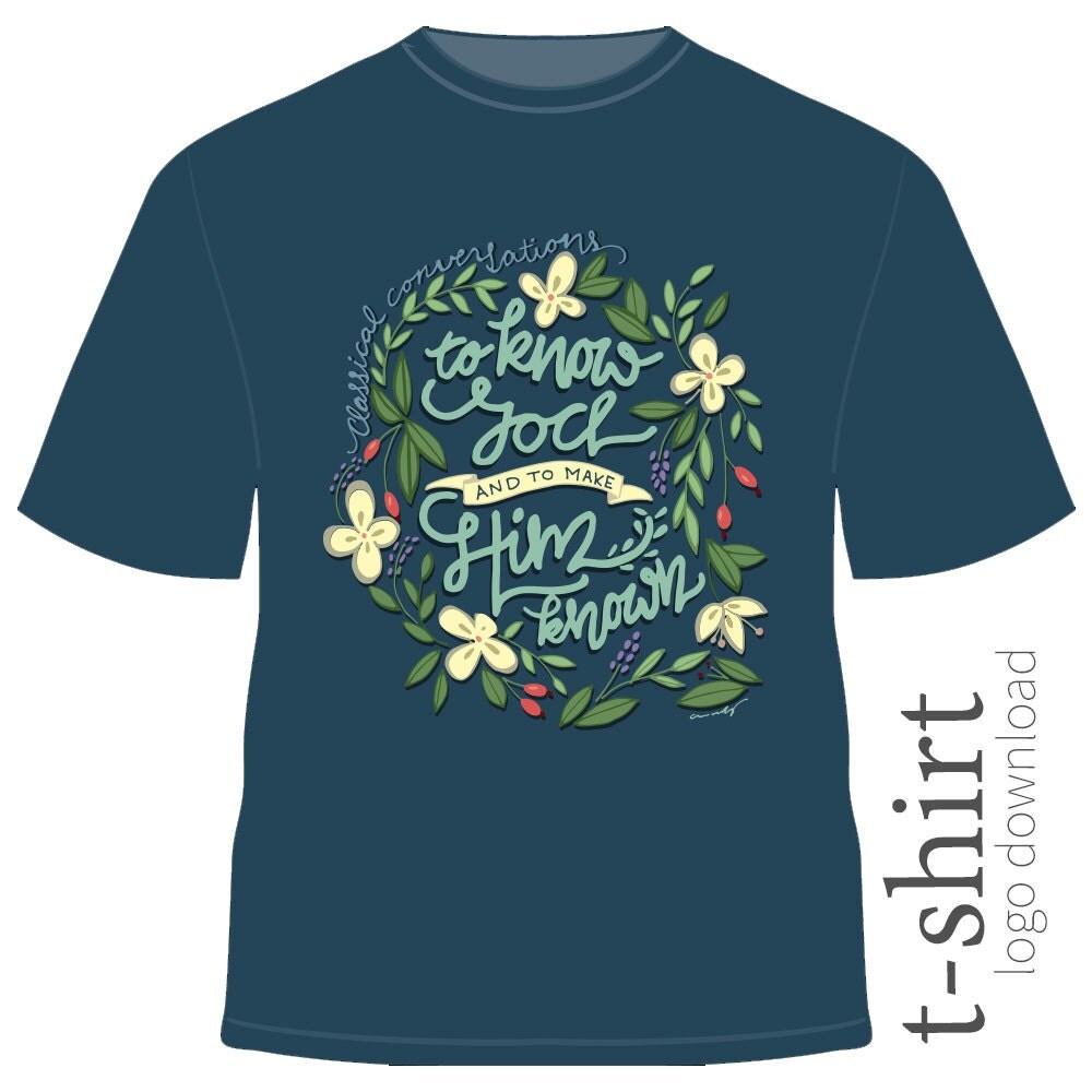 Classical conversations motto t shirt design for Local t shirt print shops