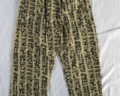 4 Women and men multicolor pants/ Women and men trousers handmade from polyester fabric/ for everyday, any occasion and a special gift