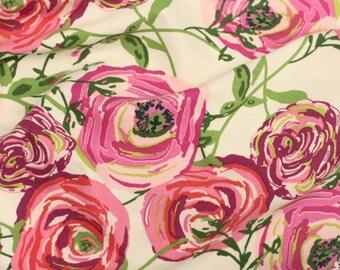 Pink Paradise Flower Baby Blanket | Swaddle Blanket | Baby Blanket & Hat Gift by JuteBaby