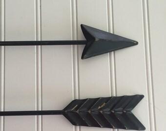 Arrow Wall Decor - Gallery Wall -Metal Wall Arrow - Black Distressed - Gold Arrow - Arrow Decor - Arrow Nursery Decor -Black Wall Decor