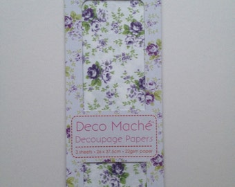 Purple Roses First Edition Decoupage Papers