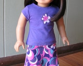 """American Girl Doll Clothes / 18"""" Doll Clothing - Maxi Skirt / Purple Top"""