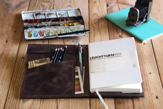 Leuchtturm 1917 Leather Cover Ipad Mini Cover A5 Notebook