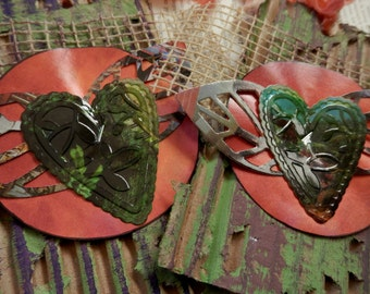 TOTALLYCUTE TRASH TAGS 2 - Repurposed postconsumer materials - Large - Heart with Wings