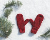 Classic Crochet Mittens, Crochet Winter Mittens, You pick color, Made to Order
