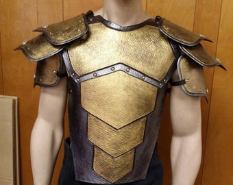 Leather Armor Harbinger Chest, Back, and Segmented Shoulders