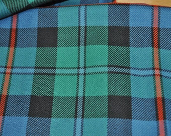 Campbell of Cawdor Tartan Fabric. Ancient Available. 100% 10oz Pure New Wool. Remnant Piece.