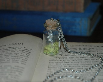 Captured Woodland Fairy in a Bottle Necklace 364