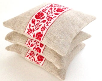 Lavender Sachets with Natural Linen made with Organic Lavender